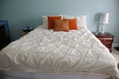Pintuck Organic Cotton Duvet from West Elm via Our Byrd House