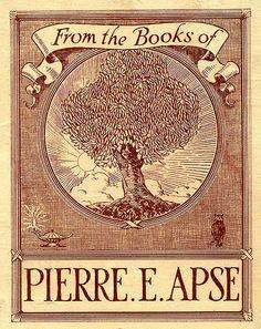 Bookplate of Pierre E. Apse