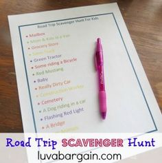 Road Trip Scavenger Hunt For Kids with Free Printable -  great to keep the kids busy when traveling!