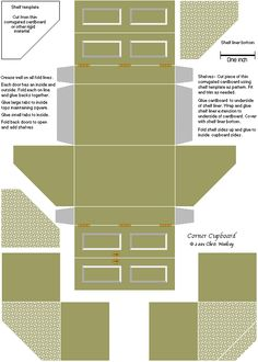 3d Paper Doll Furniture Toys Templates On Pinterest