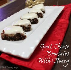 Goat Cheese Brownies With Honey