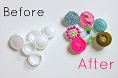 helana and ali: Babysitting Craft Kit - DIY making rings from milk carton plastic
