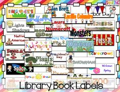 140+ Library labels and STICKERS to make your classroom library the best ever! You print out the label to place outside the book bin and print MATCHING stickers and place inside the books. You students will easily be able to match the book to the right bin.