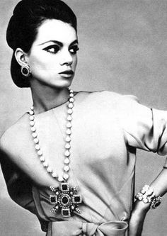Christian Dior. Vogue UK, October 1965. Photo: Guy Bourdin.