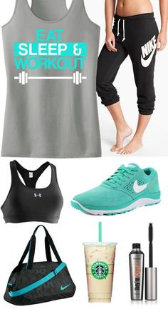 Cool mint themed #Workout #GymGear. EAT SLEEP  WORKOUT tank top by #NoBullWomanApparel $24.99 on Etsy. You deserve to look good while you train hard! Click to buy http://www.etsy.com/...