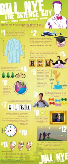 Bill Nye - he's the shit!!!! Thanks Bill, here are 12 more reasons Bill Nye is a BAMF.