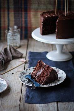Chocolate carrot cake (Tarta de zanahorias de chocolate)