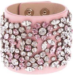 Valentino Crystal Embellished Bracelet