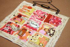 art journal, donna downey, fanatictextilesfib art, mix mediajourn, fabric fanatictextilesfib