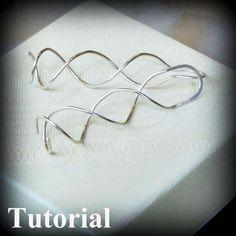 DIY Jewelry Tutorial - Curly Earrings - PDF