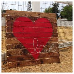 Etsy Wooden Love Picture I would love to have this in my room
