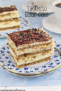 Tiramisu Eclair Cake #easydesserts