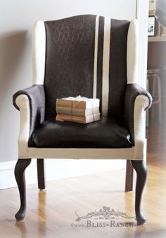DIY:  Painting Fabric Chairs - lots of information on how to paint on fabric.  This is a brilliant way to change the color of a chair,  but at a fraction of the cost of having it upholstered.