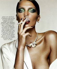 Daria Werbowy beauty shoot Vogue Paris
