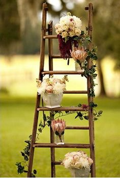 I've heard of using old ladders for tomato cages and beans...