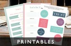 I love these printables that appear on so many female marketing sites - I like the colours and the text