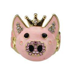 Crystal Pig ring