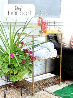 Hi Sugarplum | DIY Patio Bar Cart