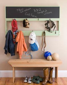 twin, chalkboards, hooks, chalkboard paint, diy headboards, coat racks, furniture, modern interiors, coats