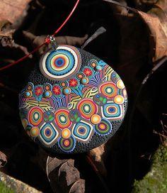 Polymer Clay pendant via Flickr