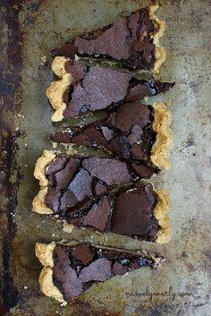 Gluten-free Chocolate Brown Pie with Peanut Butter Cheesecake