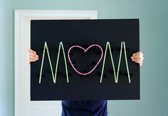 Make your own neon sign using glow sticks! When they start to fade, simple slide out and replace the glow sticks.