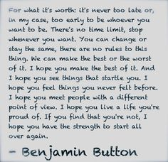 """From the movie, """"The curious case of Benjamin Button"""". benjamin button"""