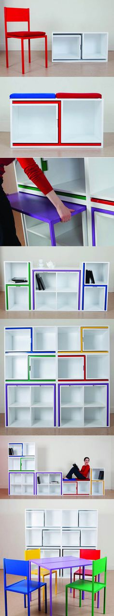 #furniture_coolest idea ever! Gives a little color, but also provides tuck away furniture!_wounder how good the quality is though sturdy?