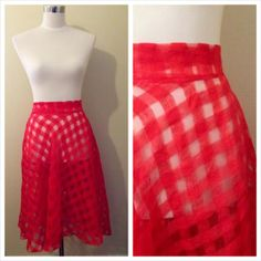 Just finished sewing my red spring skirt! Click the pic to read about how I want to wear it :)