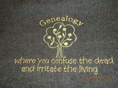 Embroidered Genealogy Tote Bag by KozyKritters on Etsy, $20.00
