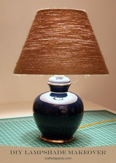 Jute Covered Lamp Shade --- Easy Breezy