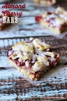 I Dig Pinterest: Almond Cherry Bars: July Mystery Dish cherri bar, almond cherri