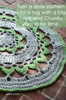 Turn a Doily Pattern into a Rug
