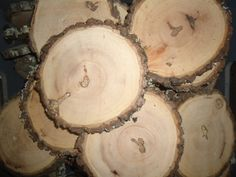 """25 qty 4"""" wood slices, rustic wedding centerpieces, large wood slices, rustic wedding supplies, wood slices for weddings,"""