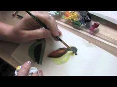 Acrylic painting - 4 little birds...nice tutorial!!