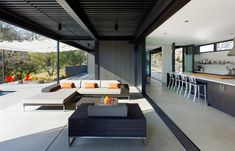 The Long Valley Ranch two-bedroom, two-bathroom vacation home, designed by Marmol Radziner Prefab.