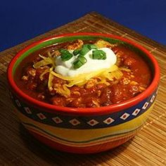 "Simple Turkey Chili Allrecipes.com...  Blend this recipe with Guy Fieri's ""Ryder Chili"" ... Turned out great!"