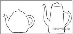 Чайная посуда раскраски