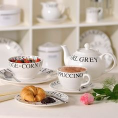 Our contemporary black and white Script collection of china is perfect for everyday use.