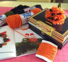 How to make pom pom jack-o-lanterns #Halloween #pumpkin #jackolantern