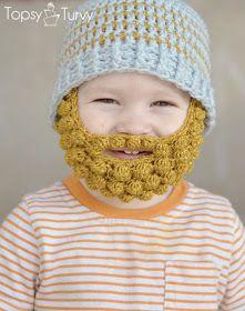 free crochet pattern beard beanie