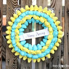 Whether you love them or hate them, you've got to agree that Peeps make for a pretty cute wreath! Full tutorial with multiple varieties.