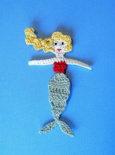 Crochet Mermaid Applique