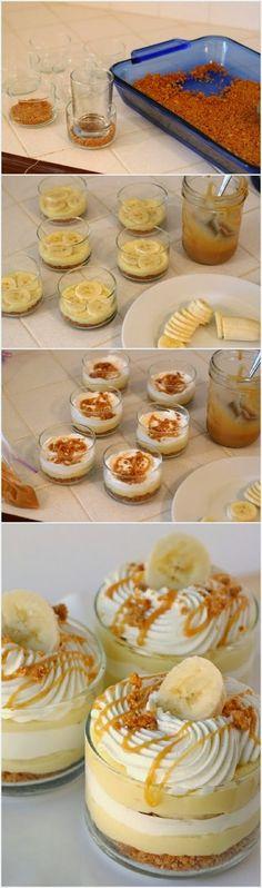 Banana Caramel Cream Dessert