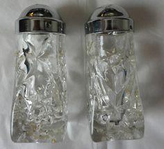 Vintage Anchor Hocking Star of David EAPC Salt & Pepper Shaker Set With Lids