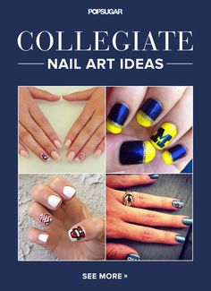 """Collegiate Nail Art That Gives a New Meaning to """"Spirit Fingers"""""""