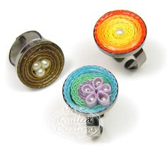 quilled rings