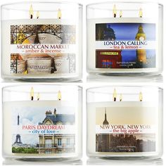 Bath & Body Works Slakin & Co. City Collection Candles: London Calling, Paris Daydream Spring 2013
