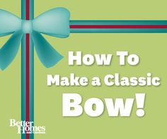 Learn how to make a classic bow to accent your Christmas gifts. Watch here: http://www.bhg.com/videos/m/65797516/make-a-classic-bow.htm