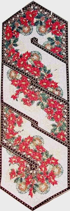 """Christmas Swirl Tablerunner quilt kit - uses fabric line """"Magic of Winter"""" and includes backing fabric!"""